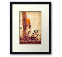 Bicycle red Framed Print