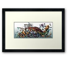 Realistic Pokemon Framed Print