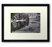 Snow Kissed Sunrise Framed Print