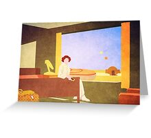 The Desert Motel Greeting Card