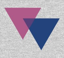 Bisexual Pride Symbol- Triangles by cadellin