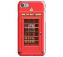 British Red Phone box with St Pauls iPhone Case/Skin