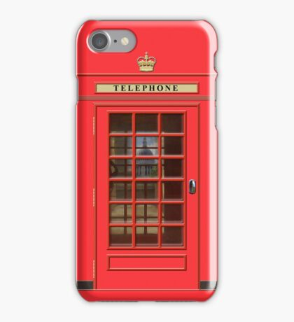 British Red Phone box with St Pauls iPhone Case/Skin