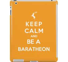 Keep Calm And Be A Baratheon (White Version) iPad Case/Skin