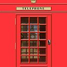 British Red Phone box with the Elizabeth Tower by John Edwards