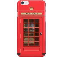 British Red Phone box with the Elizabeth Tower iPhone Case/Skin