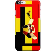 Sports Supporter Red Black Yellow iPhone Case/Skin