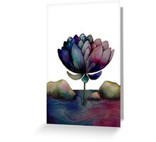 rainbow lotus flower Greeting Card
