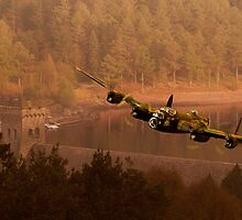 Lancaster Over The Dams by Nigel Hatton, Derwent Digital Imaging