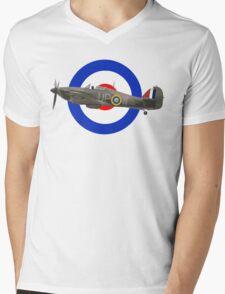 Hawker Hurricane Mens V-Neck T-Shirt