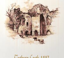 A digital painting of Tutbury Castle 1897 by Dennis Melling