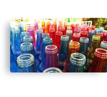 Coloured bottles Canvas Print
