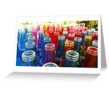 Coloured bottles Greeting Card