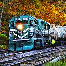 Train in Fall by Julie Everhart