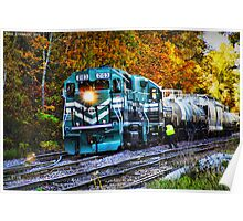 Train in Fall Poster