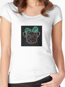 UV Pug Tee  Women's Fitted Scoop T-Shirt