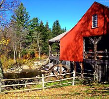 Red Grist Mill of Vermont by Julie Everhart