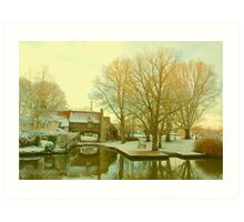 Pull's Ferry, Norwich, England Art Print