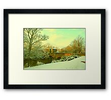 Bishop's Bridge, Norwich, England Framed Print