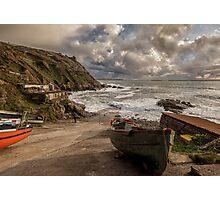A stormy evening on the Cornish Coast Photographic Print