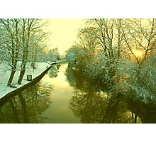 Winter River scene, Norwich, England Photographic Print