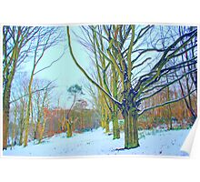 Winter Trees on Mousehold Heath, Norwich, England Poster