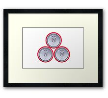 Three drink cans Framed Print