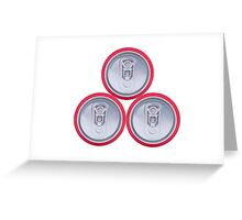 Three drink cans Greeting Card