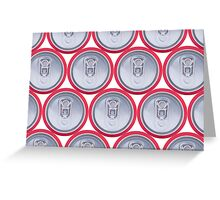 Pattern drink cans Greeting Card