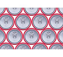 Pattern drink cans Photographic Print