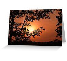 Warm Summer Sunset Greeting Card