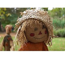 Happy Scarecrow Photographic Print