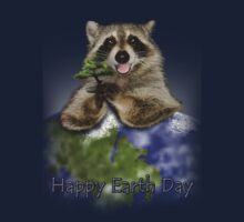 Happy Earth Day Raccoon Kids Clothes