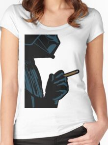 Darth Vader Smoking Cigarette Women's Fitted Scoop T-Shirt