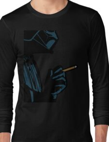 Darth Vader Smoking Cigarette Long Sleeve T-Shirt