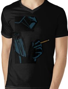 Darth Vader Smoking Cigarette Mens V-Neck T-Shirt
