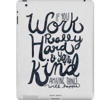 Work Really Hard iPad Case/Skin
