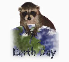 Earth Day Raccoon One Piece - Short Sleeve