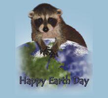 Happy Earth Day Raccoon Baby Tee