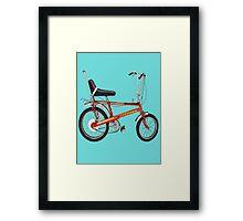 Retro Chopper Bike Framed Print