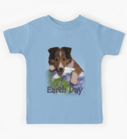 Earth Day Sheltie Kids Tee