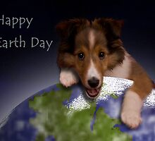 Happy Earth Day Sheltie by jkartlife
