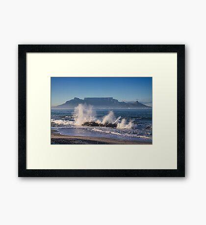 Table Mountain Splash Framed Print