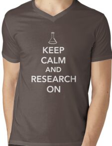 Keep Calm and Research On Mens V-Neck T-Shirt