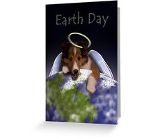 Earth Day Angel Sheltie Greeting Card