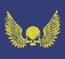 Skull and Wings Yellow by simonbreeze