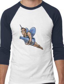 SheVibe Presents The Sliquid Dean Sprite - Blue Men's Baseball ¾ T-Shirt