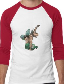 SheVibe Presents The Sliquid Dean Sprite - Green Men's Baseball ¾ T-Shirt