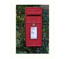 Royal Mail Post Box Art Print