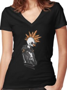The Holiday Homie, Snow Punk! Women's Fitted V-Neck T-Shirt